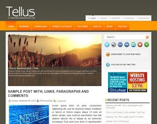 Tellus Blogger Template