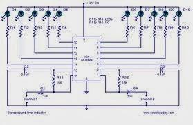 led audio vu level meter using transistors audio level indicator circuit diagram audio level meter (vumeter) circuit