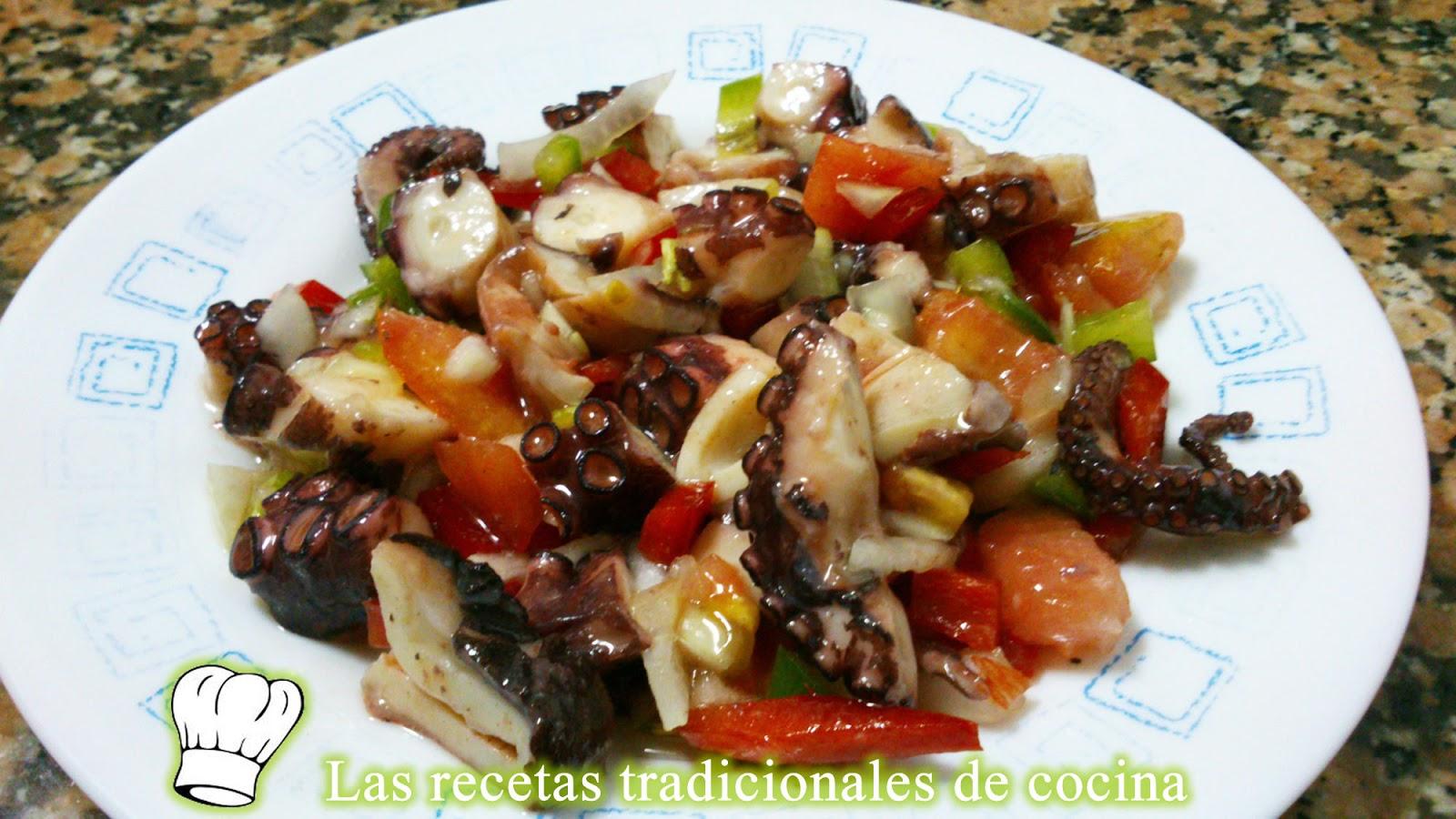 Receta de salpic n de pulpo recetas de cocina con sabor Como se cocina el pulpo