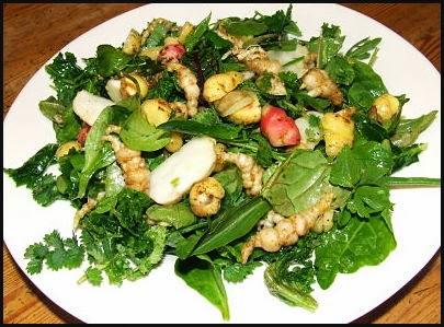 Dish of winter salad