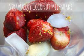 Strawberry Coconut Milkshake - AMAZING!  Gluten free
