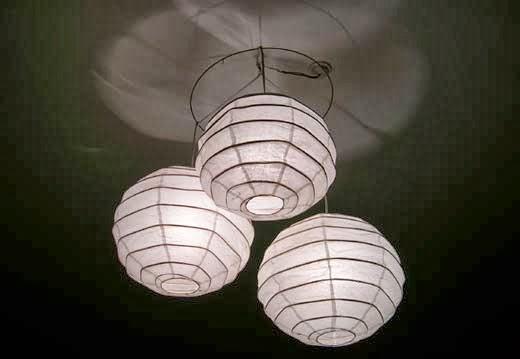 ikea lampadario carta di riso : Come creare un lampadario di carta di riso fatto in casa. Una lampada ...