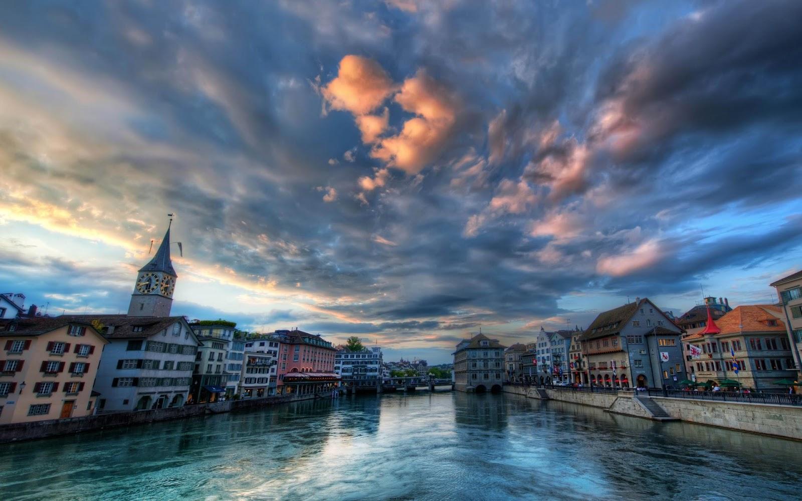 Zurich City Wallpaper