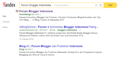 Cara Daftar Blog ke Yandex - Search Engine Tepopuler Rusia