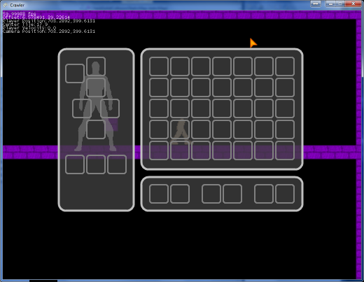 DESCEND Inventory Screen