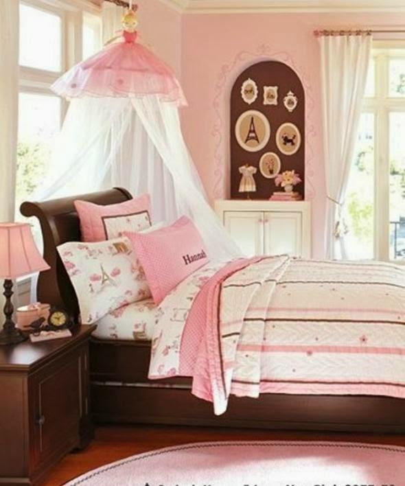 Dormitorios color rosa y chocolate para adolescentes for Dormitorio rosa