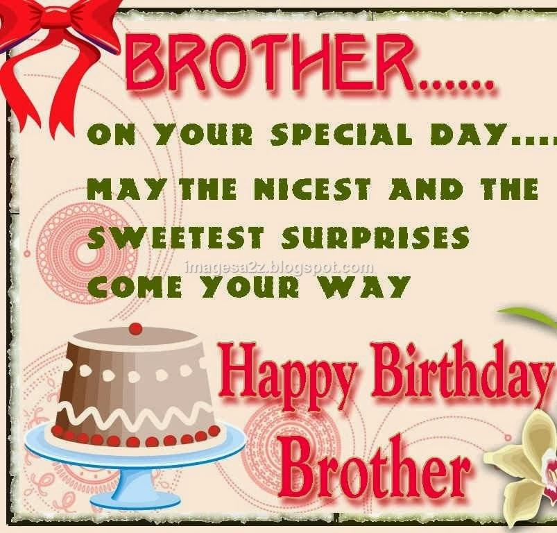 happy birthday cake card happy happy birthday wishes for brother cake ...