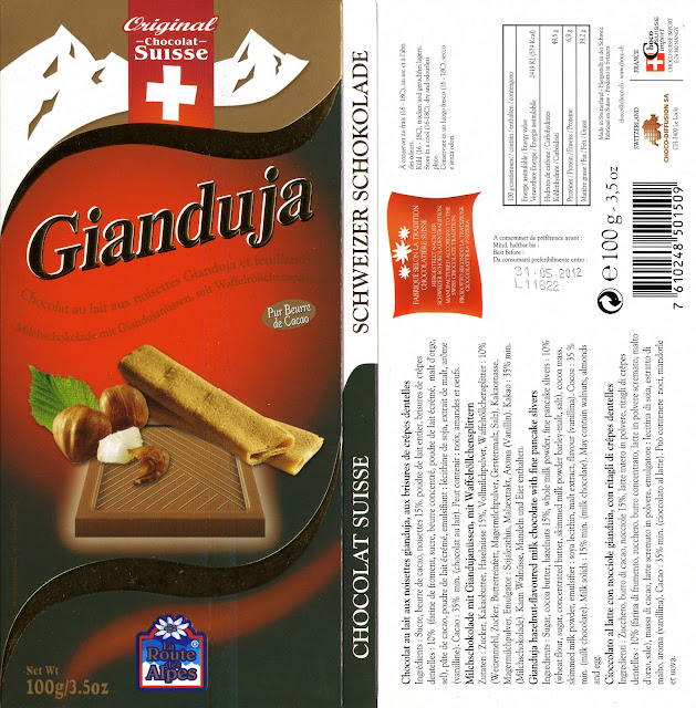 tablette de chocolat lait gourmand orset la route des alpes lait gianduja