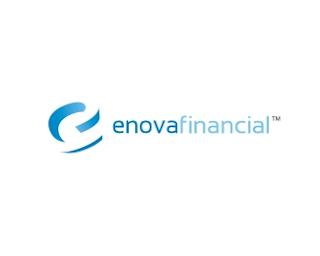 12. Enova Financial (White) Logo