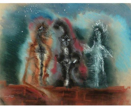 Leonora Carrington Tres+gatos