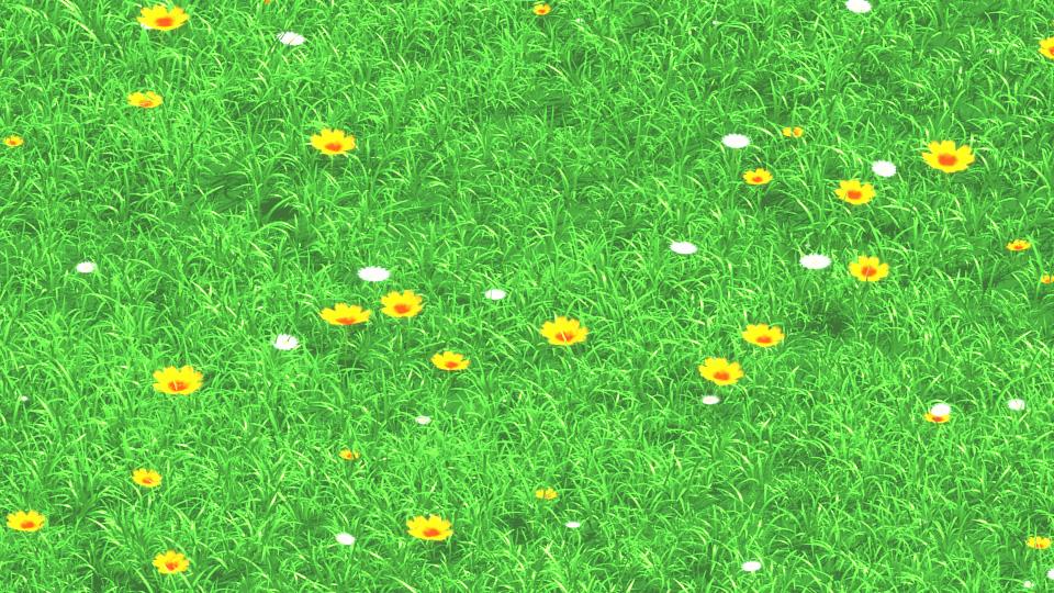 3d anime grass