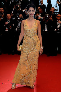 Mallika Sherawat Pictures in Gold Beaded Dress at The Great Gatsby Premiere 0004