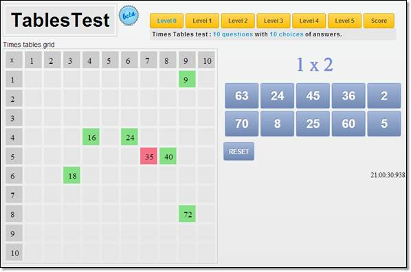 Les tables multiplications se r visent en ligne for Les tables de multiplication en ligne
