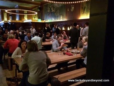 beer hall at Schroeder's restaurant in San Francisco