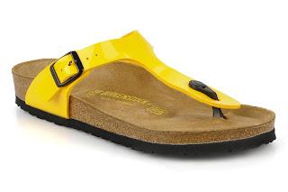 yellow birkenstocks