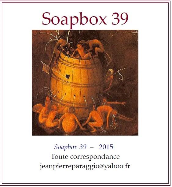 SOAPBOX 39 - SEPTEMBRE 2015, Feuillets de l'UMBO, ART & POÉSIE