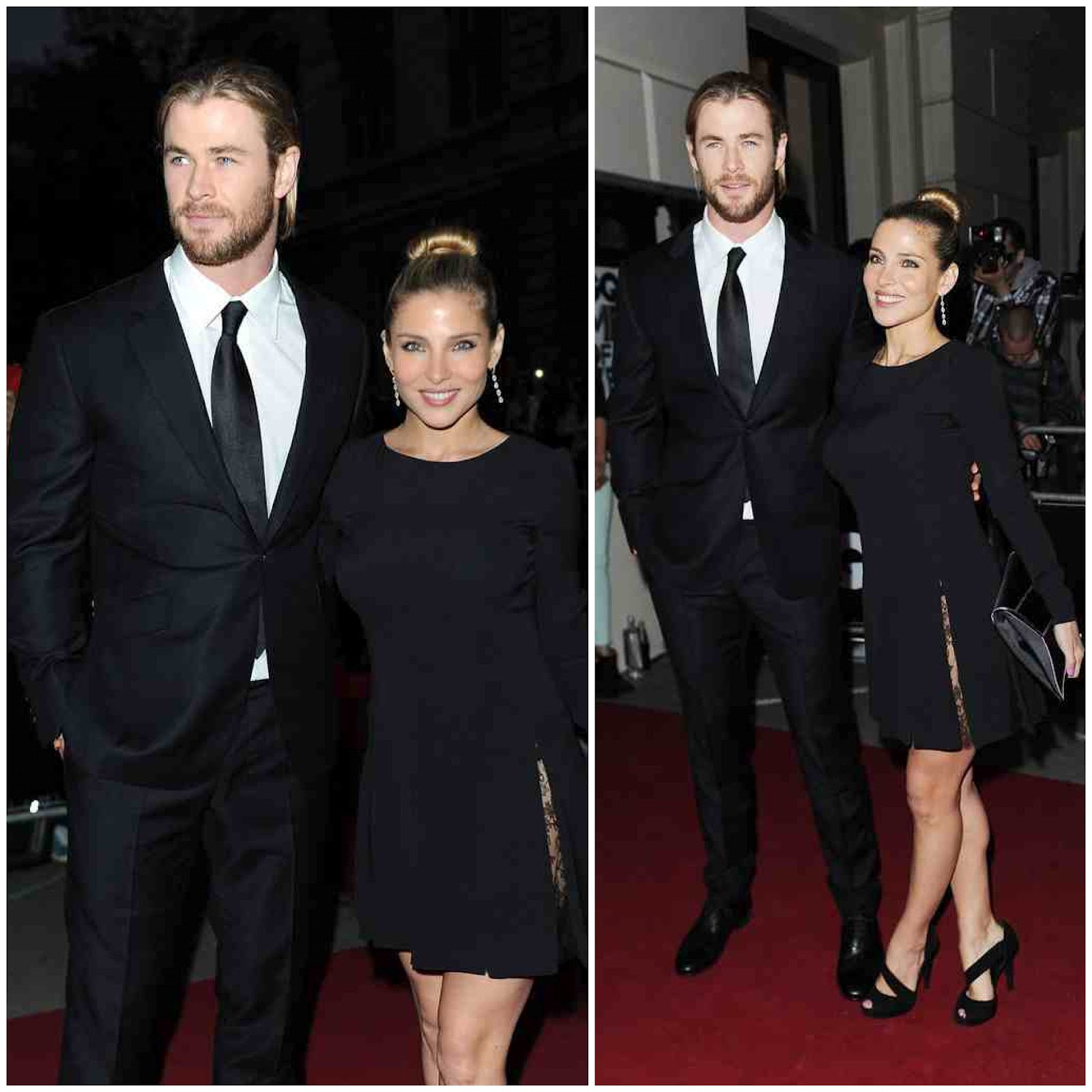 00O00 London Menswear Blog Chris Hemsworth and wife Elsa Pataky GQ Men Of The Year Awards 2012 Dunhill