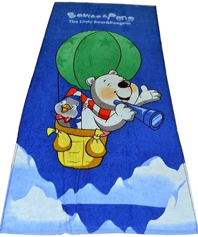 Bombay Dyeing Soft Cosy Teddy On Hot Air Balloon Kids Towel