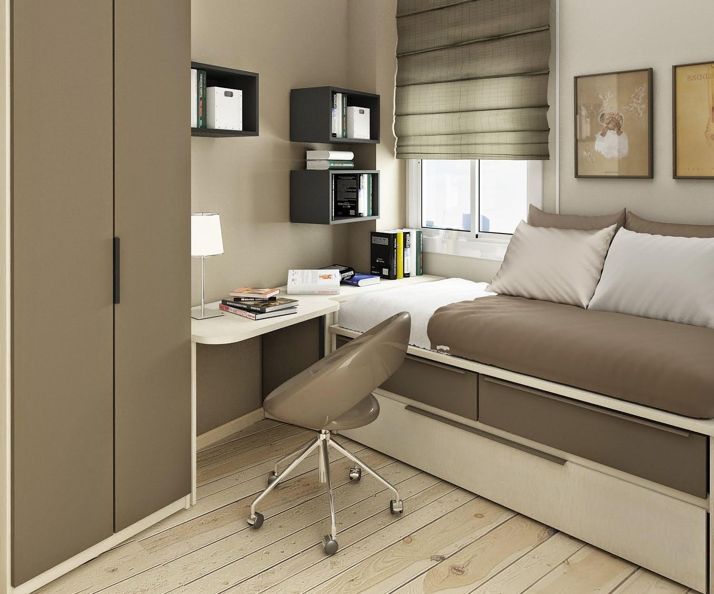 desain rumah tebaru: contoh desain kamar tidur ukuran 3x3