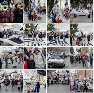 Los hinchas de Cipo festejaron su día en el centro y en las redes sociales