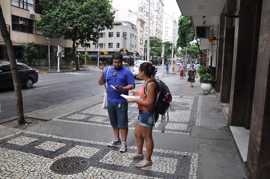 Coleta de dados climáticos em copacabana