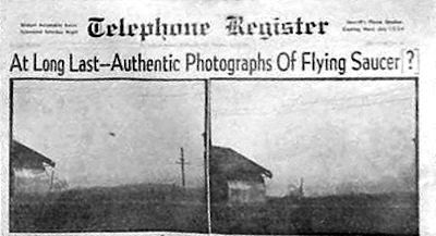 At Long Last - Authentic Photographs of Flying Saucer Telephone-Register 6-8-1950