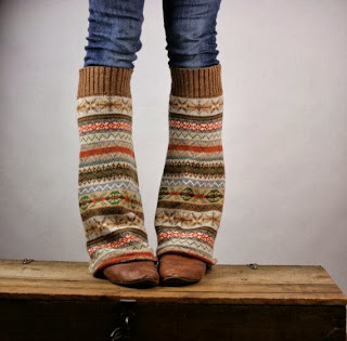 sweater sleeves into leg warmers