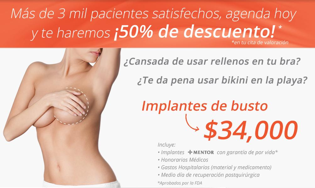 Cuanto cuesta aproximadamente un implante de senos