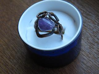 """Хозяйка медной горы, Комплект серьги и кольцо """" Аметист """", аметист, украшения,"""