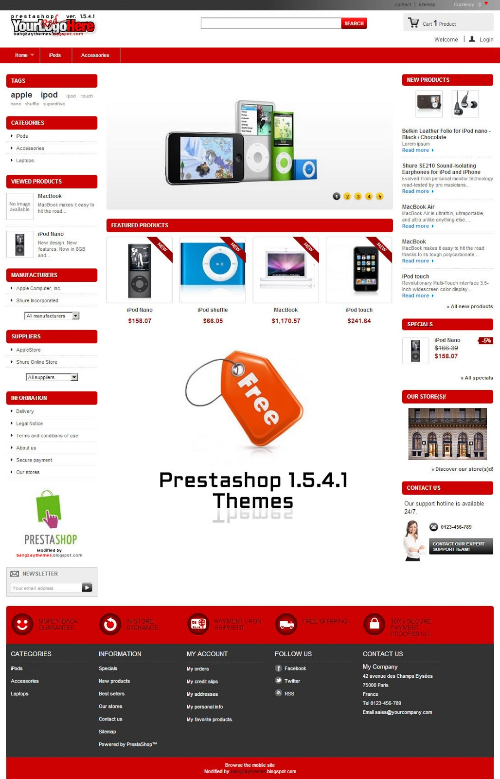 Free prestashop 1541 themes zaythemesdotcom for Presta shop templates