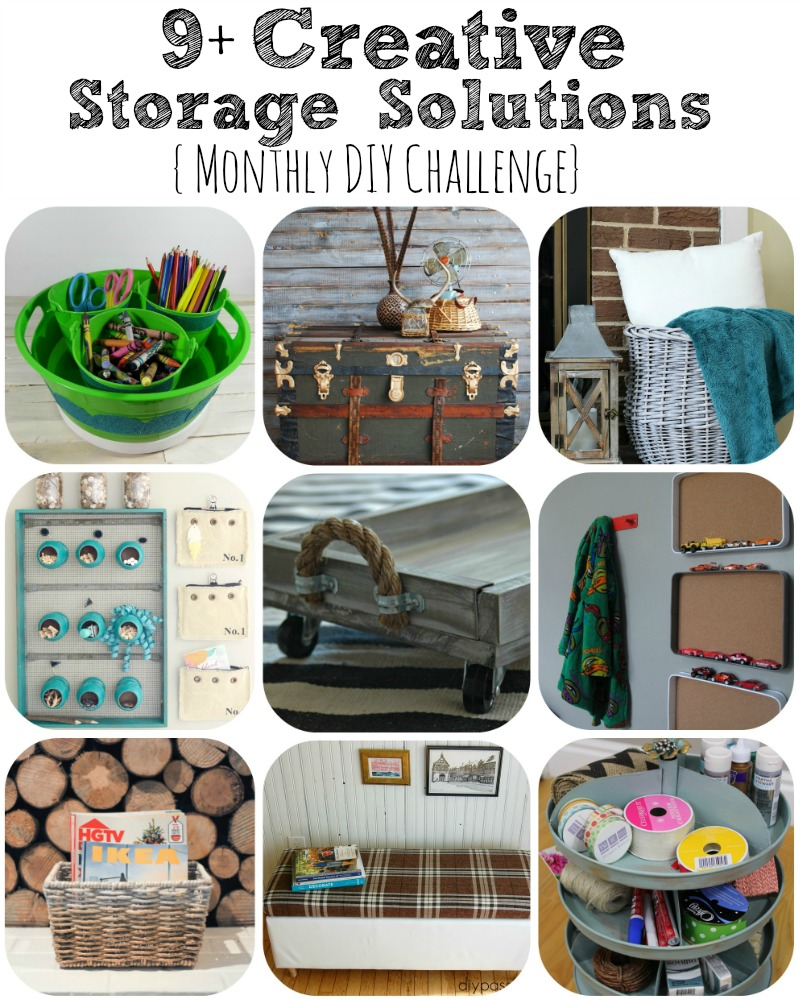 Creative Storage Solutions! Get organized with these DIY projects!