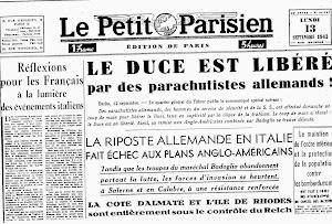 """""""LE PETIT PARISIEN"""" 13 SETTEMBRE 1943"""