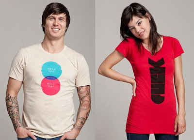 "The Olly Moss Threadless Select T-Shirt Collection - ""Hell Maybe"" & ""F-Bomb"" T-Shirts"