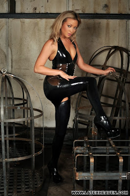Latex Heaven is a Hot Blonde in Tight Shiny Latex
