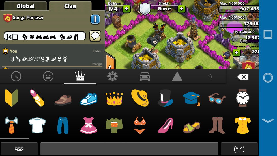 Cara Chat Emoticon di Clash of Clans