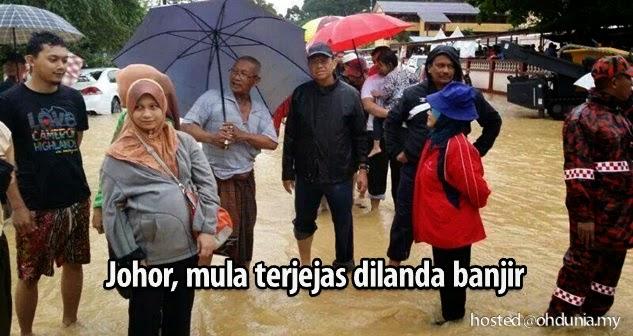 Johor, Negeri terbaharu mula terjejas dilanda bencana banjir