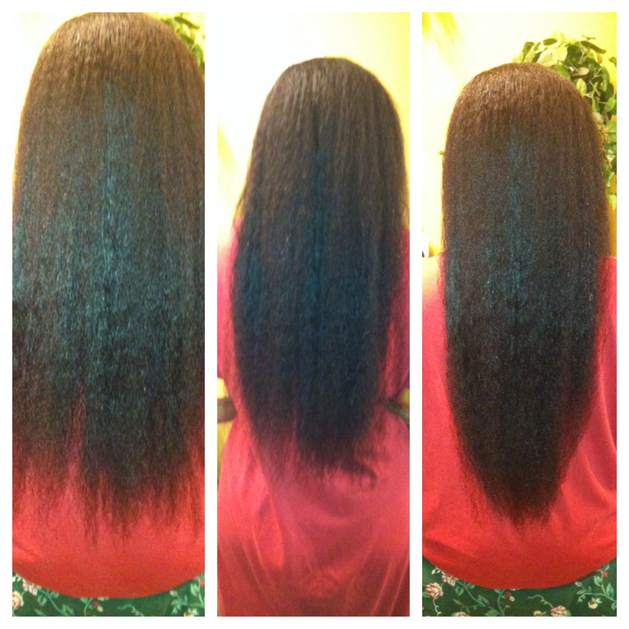 feature the regimen that created hip length relaxed hair