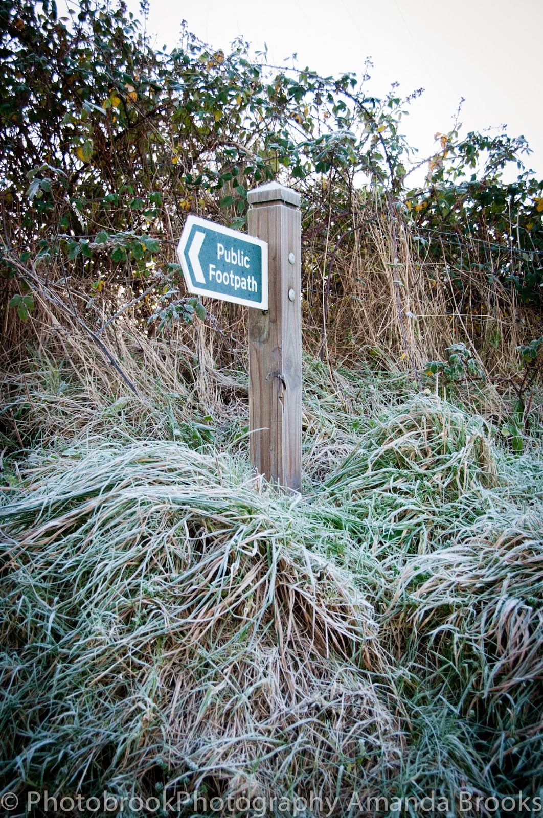 Public footpath sign cornwall