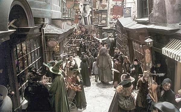 ตรอกไดอากอน ตรอกไดอะกอน แฮรี่ พอตเตอร์ แฮร์รี่ harry potter Diagon Alley Hagrid ภาพยนตร์ หนังใหญ่ ฉากถ่ายทำ