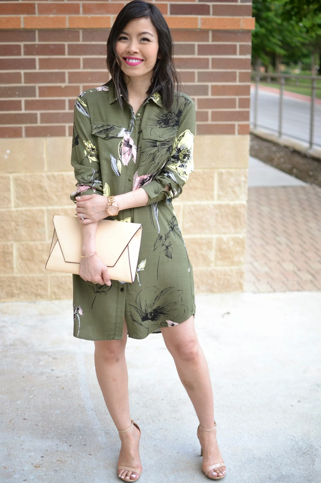 Style and Cappuccino : Spring Fling: Floral Shirt Dress ...