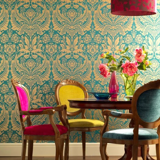 Spirit Desire Damask Wallpaper by Graham &Brown
