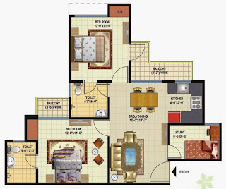 Amrapali Princely Estate :: Floor Plan