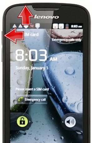 Lenovo A690 Volume Up Power