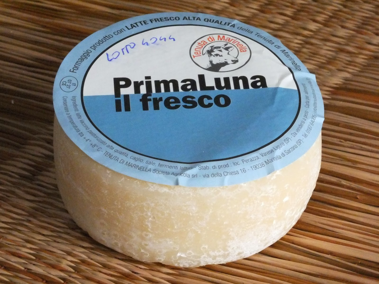 Fresh cheese from the plains of Luni.  Tenuta di Marinella