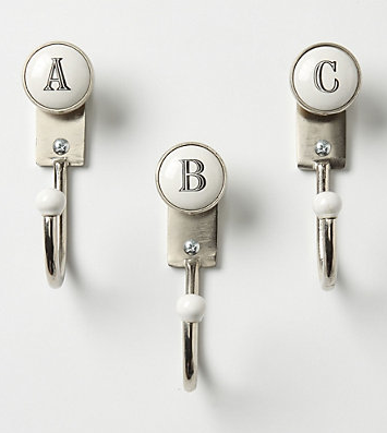 alphabet hooks - A B C