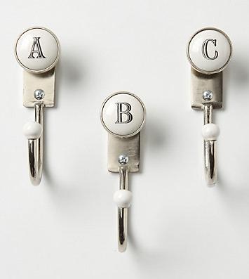 alphabet hooks - A B C