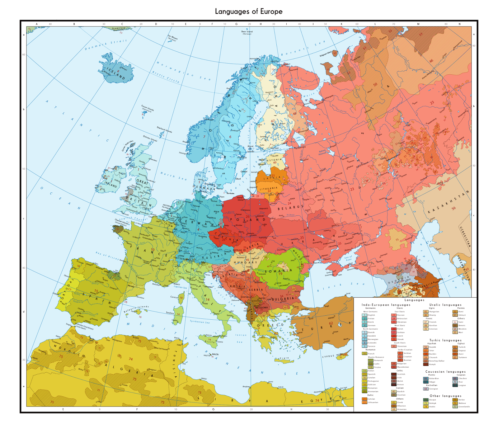 Linguistic Map Of Europe MapPorn - Sweden map 1600