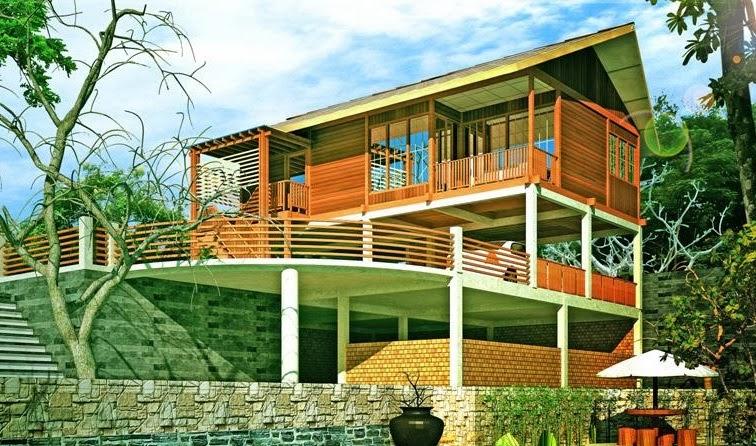 membangun rumah kayu minimalis modern contoh disain