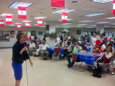 Zephyr Gets the Hang of Campaigning at WNY Senior Center