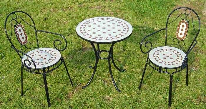 juego de mesa y silla terraza forja